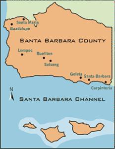 Santa Barbara County Brand Marketing Map