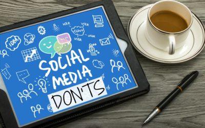 "Small Business Social Media ""Don'ts"""