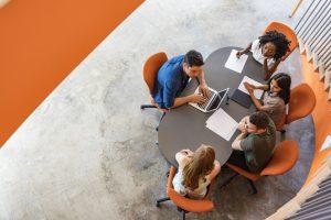 Open Plan Business Meeting