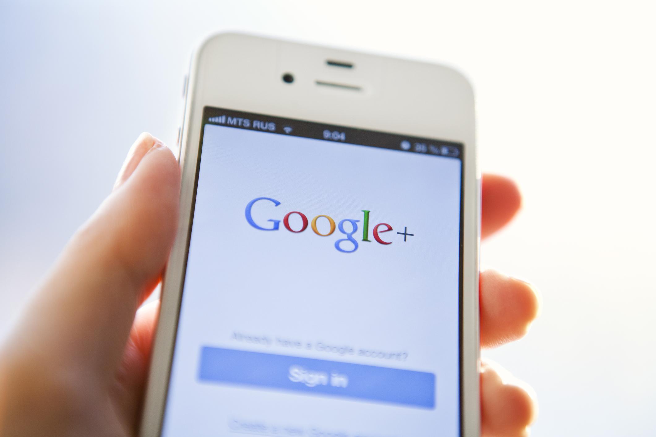 Google Plus on iPhone