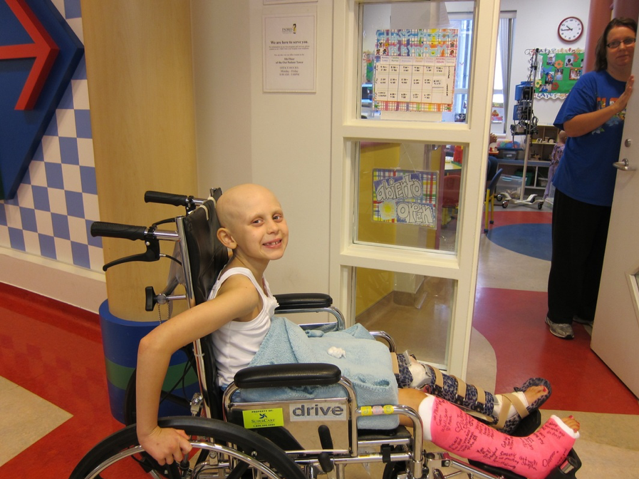 Jessica in wheelchair at CHPlay